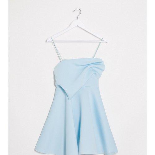 ASOS DESIGN Tall- Robe courte style patineuse à fines bretelles et détail plissé, en exclusivité - Menthe - ASOS Tall - Modalova