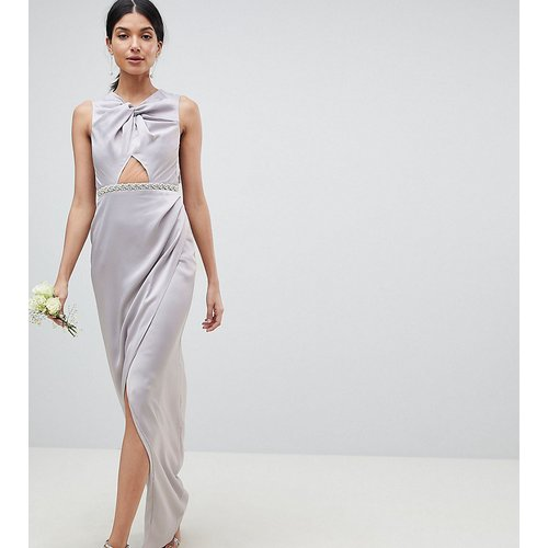 ASOS DESIGN Tall - Robe longue à perles torsadée sur le devant - ASOS Tall - Modalova