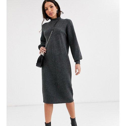 ASOS DESIGN Tall - Robe mi-longue duveteuse à surpiqûres - ASOS Tall - Modalova