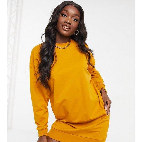 ASOS DESIGN Tall - Robe sweat-shirt à surpiqûres - Gingembre - ASOS Tall - Modalova