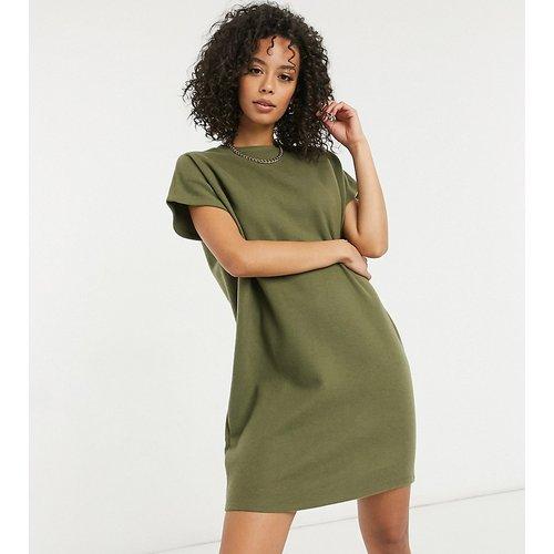 ASOS DESIGN Tall - Robe t-shirt courte ultra douce - foncé - ASOS Tall - Modalova