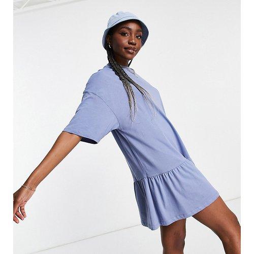 ASOS DESIGN Tall - Robe t-shirt oversize à ourlet volanté - ASOS Tall - Modalova