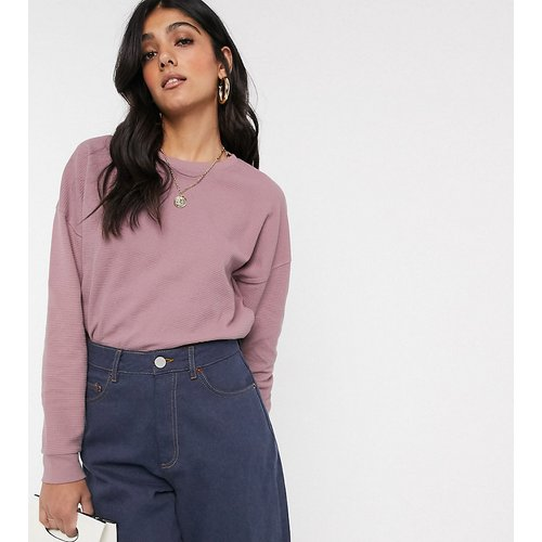 ASOS DESIGN Tall - Sweat-shirt gaufré oversize à coutures apparentes - ASOS Tall - Modalova