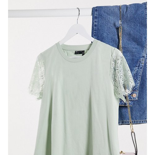 ASOS DESIGN Tall - T-shirt avec manches en dentelle - ASOS Tall - Modalova