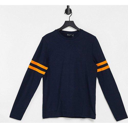 Tall - T-shirt en coton biologique à manches longues ornées de rayures contrastantes - ASOS DESIGN - Modalova