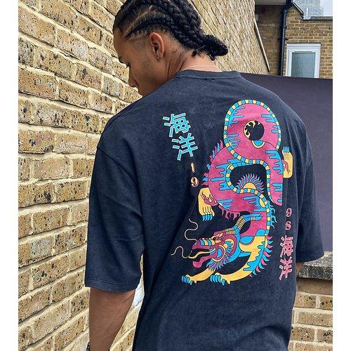 Tall - T-shirt long oversizeavec imprimé dragon au dos - ASOS DESIGN - Modalova