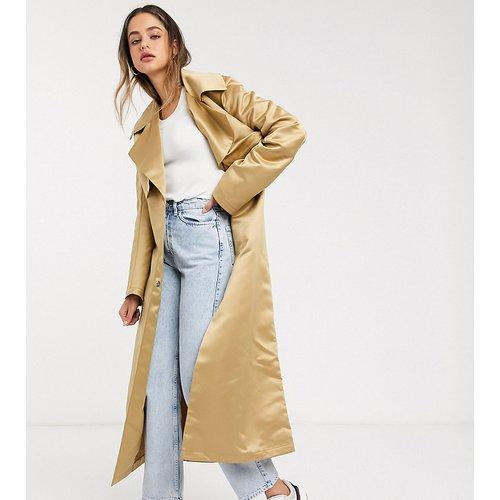 ASOS DESIGN Tall - Trench-coat avec épaules marquées - Taupe - ASOS Tall - Modalova