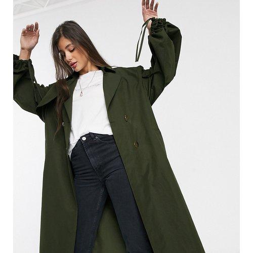 ASOS DESIGN Tall - Trench-coat avec manches oversize - Kaki - ASOS Tall - Modalova