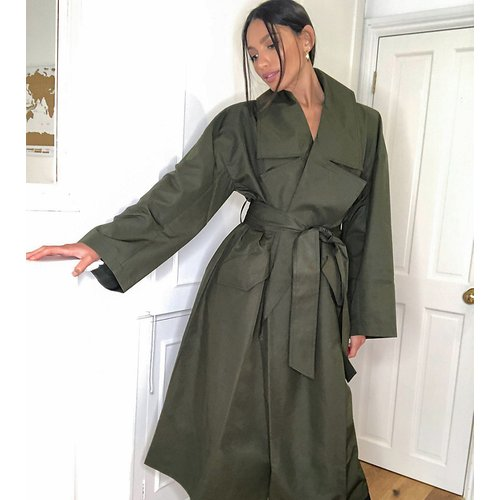 ASOS DESIGN Tall - Trench-coat léger souple oversize - Kaki - ASOS Tall - Modalova