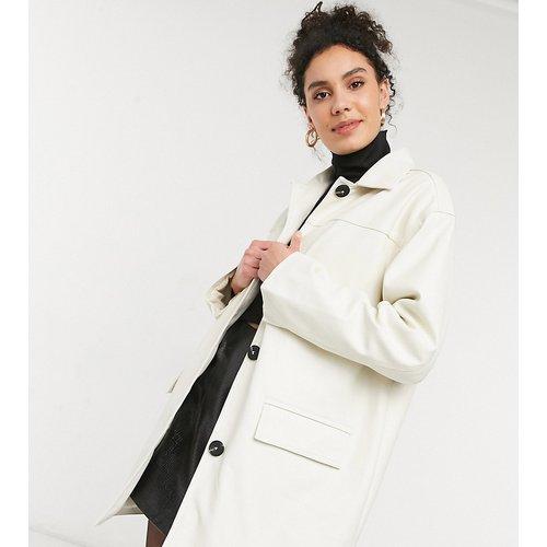 ASOS DESIGN Tall - Veste chemise oversize en imitation cuir à doublure matelassée - ASOS Tall - Modalova