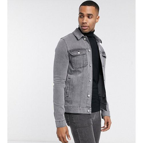 Tall - Veste en jean ajustée - ASOS DESIGN - Modalova