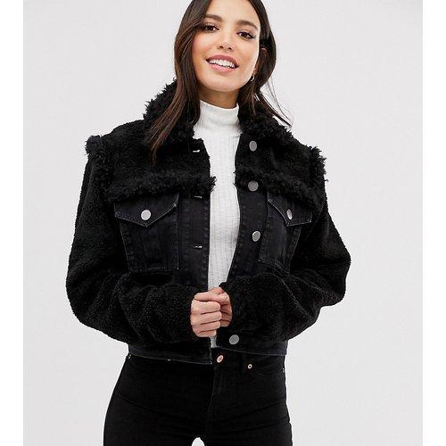 ASOS DESIGN Tall - Veste en jean avec détail imitation peau de mouton - ASOS Tall - Modalova