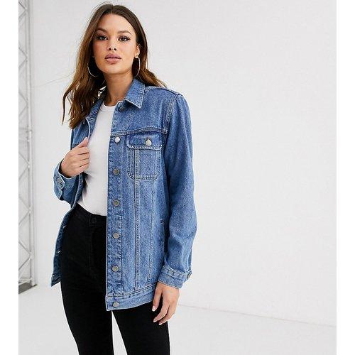 ASOS DESIGN Tall - Veste en jean style girlfriend - délavé moyen - ASOS Tall - Modalova