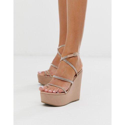 Tantalize - Chaussures compensées à entredoigt - Chair - ASOS DESIGN - Modalova