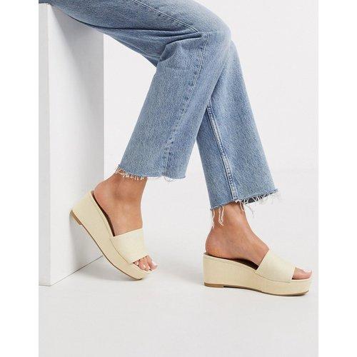 Tazlin - Chaussures semi-compensées - Crème - ASOS DESIGN - Modalova