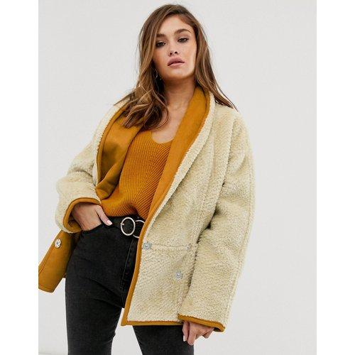 Teddy - Manteau avec col châle - ASOS DESIGN - Modalova