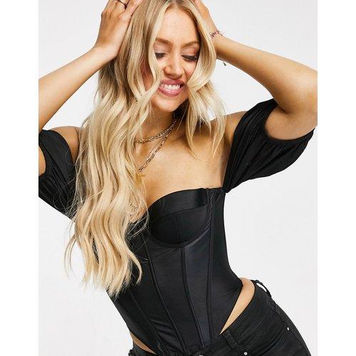 Top style corset avec manches bouffantes - ASOS DESIGN - Modalova