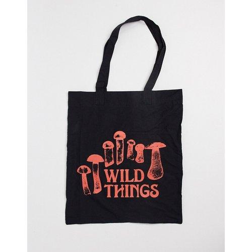 Tote bag en toile avec imprimé Wild Things - ASOS DESIGN - Modalova