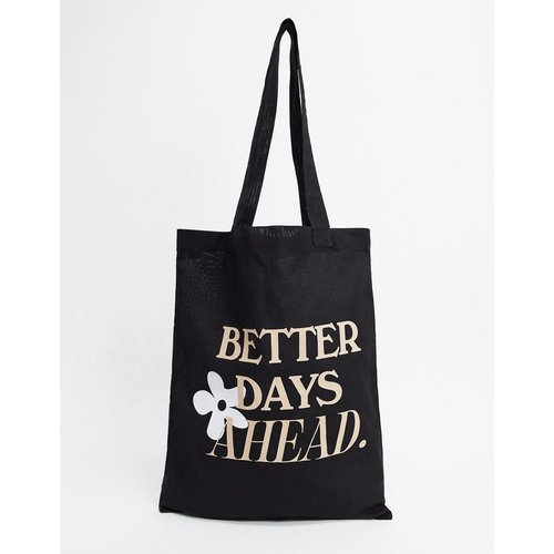Tote bag épais à imprimé Better Days - ASOS DESIGN - Modalova