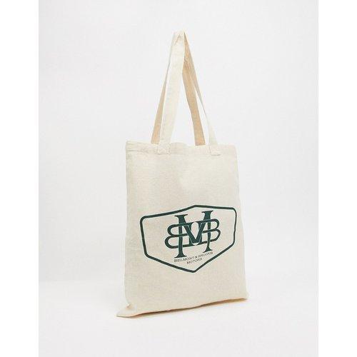 Tote bag épais avec imprimé emblème - Toile naturelle - ASOS DESIGN - Modalova