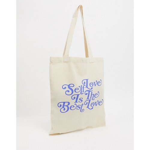 Tote bag épais avec imprimé self love - ASOS DESIGN - Modalova