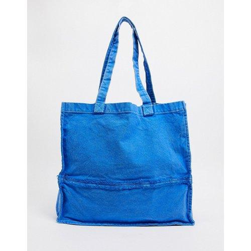 Tote bag oversize à bords bruts - délavé - ASOS DESIGN - Modalova