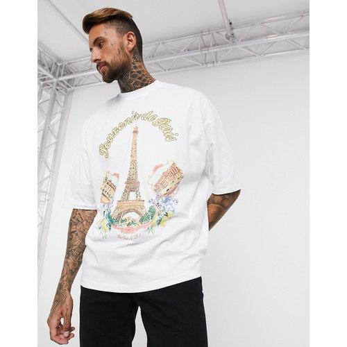 Tour Eiffel - T-shirt long oversize avec imprimé sur le devant - ASOS DESIGN - Modalova