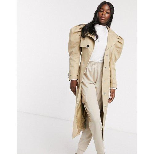 Trench-coat à manches bouffantes - Taupe - ASOS DESIGN - Modalova