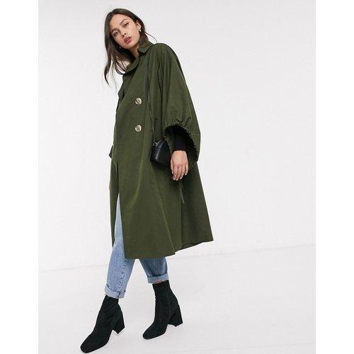 Trench-coat à manches oversize - Kaki - ASOS DESIGN - Modalova