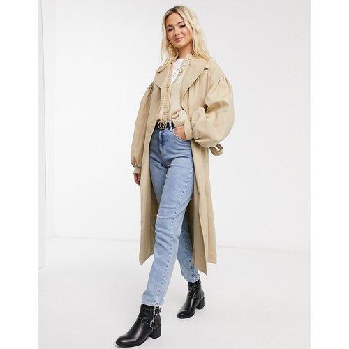 Trench-coat à manches oversize - Taupe - ASOS DESIGN - Modalova