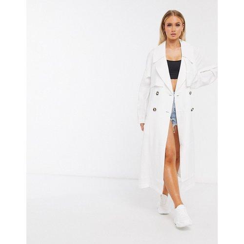 Trench-coat ample - Blanc - ASOS DESIGN - Modalova