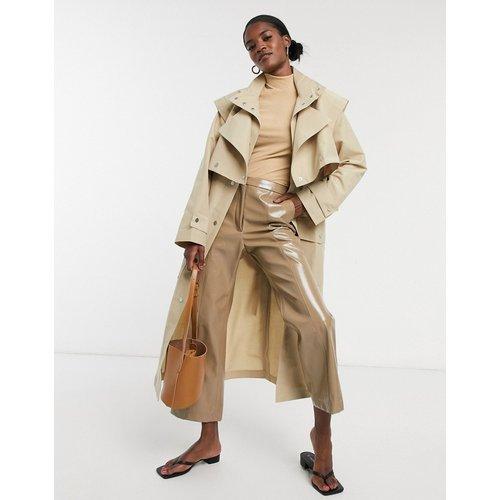 Trench-coat avec détail double épaisseur - Taupe - ASOS DESIGN - Modalova