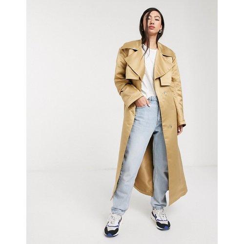 Trench-coat avec épaules renforcées - Taupe - ASOS DESIGN - Modalova
