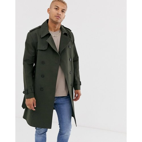 Trench-coat croisé - Kaki - ASOS DESIGN - Modalova