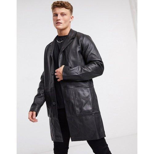 Trench-coat en cuir - ASOS DESIGN - Modalova