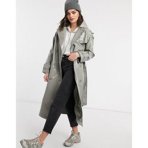Trench-coat en vinyle - Sauge - ASOS DESIGN - Modalova