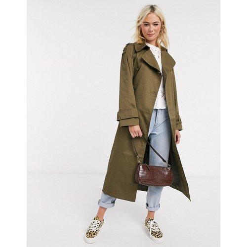 Trench-coat long - Kaki - ASOS DESIGN - Modalova