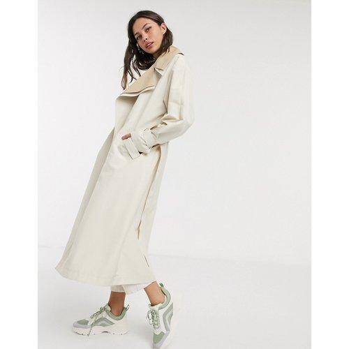 Trench-coat oversize double épaisseur - Taupe - ASOS DESIGN - Modalova