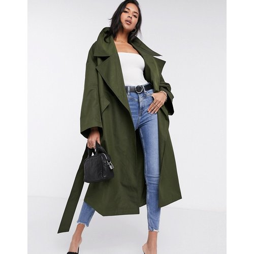 Trench-coat oversize léger coupe ample - Kaki - ASOS DESIGN - Modalova