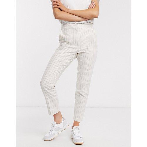 Ultimate - Pantalon cigarette à rayures en lin - ASOS DESIGN - Modalova