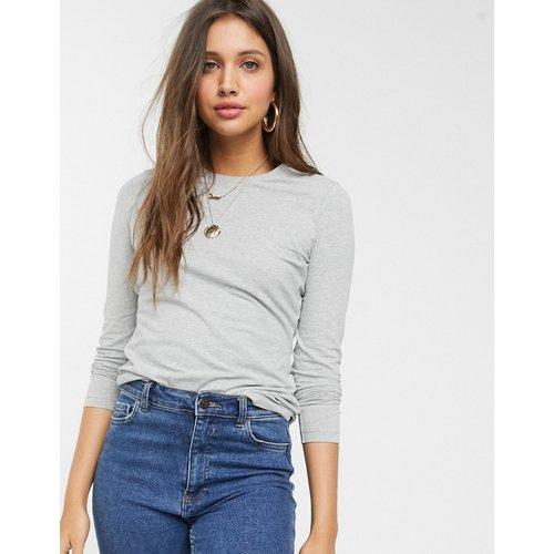 Ultimate - T-shirt ras de cou à manches longues en coton biologique - chiné - ASOS DESIGN - Modalova