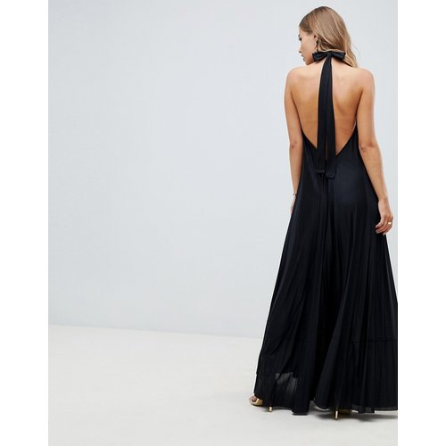 Vanessa - Robe longue plissée dos nu - ASOS DESIGN - Modalova