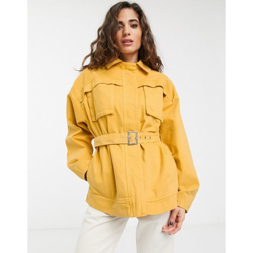 Vest-chemise en jean fonctionnelle - Jaune - ASOS DESIGN - Modalova