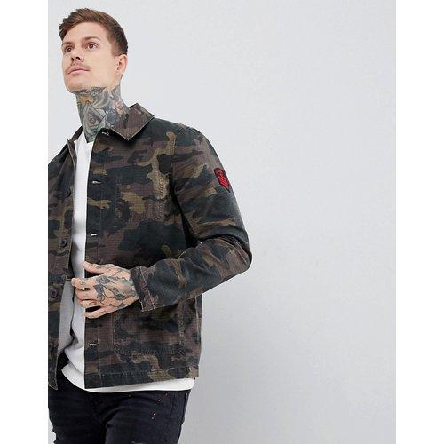 Veste à écussons style workwear - Camouflage - ASOS DESIGN - Modalova