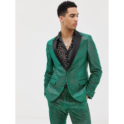Veste ajustée de costume style smoking - effet scintillant - ASOS DESIGN - Modalova