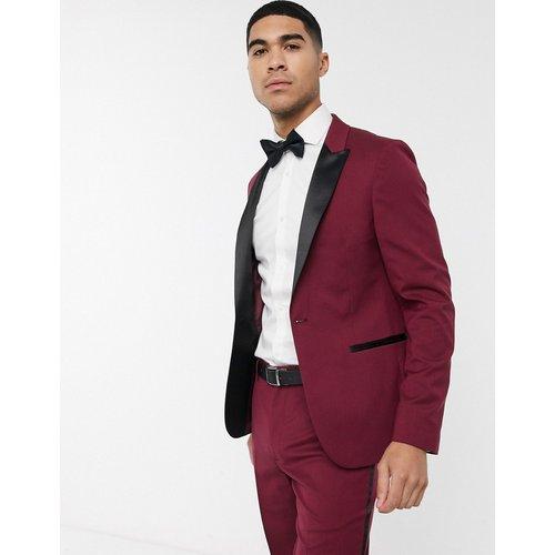 Veste de costume ajustée style smoking - Bordeaux - ASOS DESIGN - Modalova