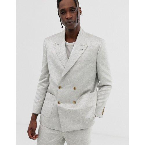Veste de costume croisée coupe carrée en jacquard - ASOS DESIGN - Modalova