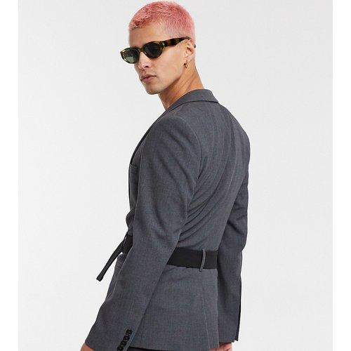 Veste de costume ultra slim avec ceinture - Anthracite - ASOS DESIGN - Modalova