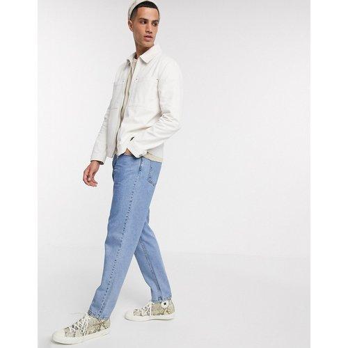 Veste en jean à fermeture éclair - Écru - ASOS DESIGN - Modalova