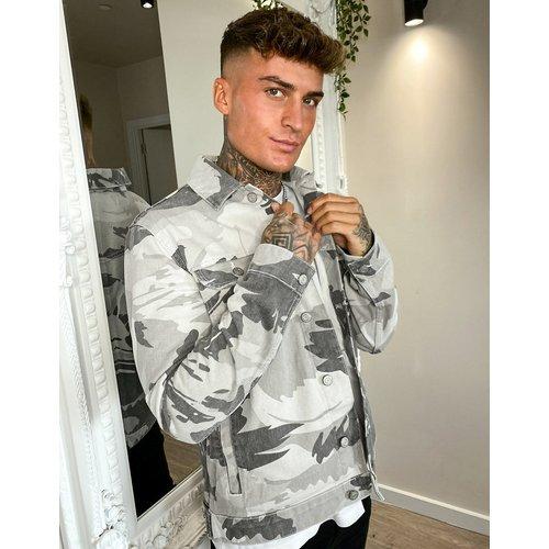 Veste en jean à imprimé camouflage - ASOS DESIGN - Modalova